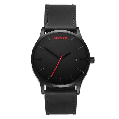 MVMT Classic Black Leather Strap L213.5L.551