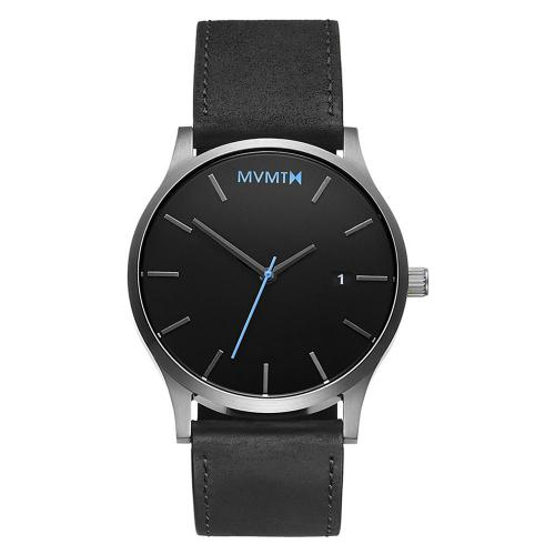 MVMT Classic Black Leather Strap MM01-BSL