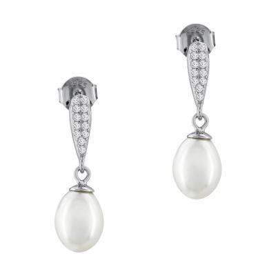 Σκουλαρίκια Με Μαργαριτάρια Από Ασήμι SK977