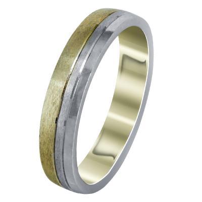 Δίχρωμη Χρυσή Βέρα Γάμου WR298