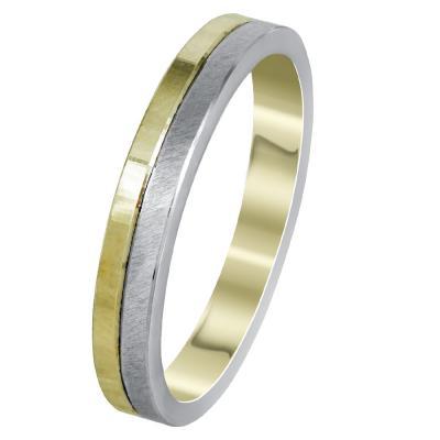 Δίχρωμη Χρυσή Βέρα Γάμου WR302