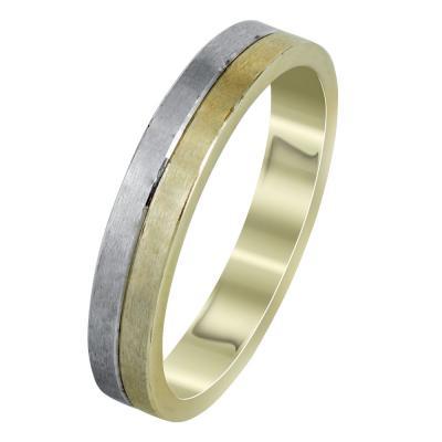 Δίχρωμη Χρυσή Βέρα Γάμου WR303