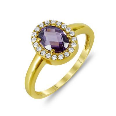 Δαχτυλίδι Ροζέτα Από Επιχρυσωμένο Ασήμι DX782