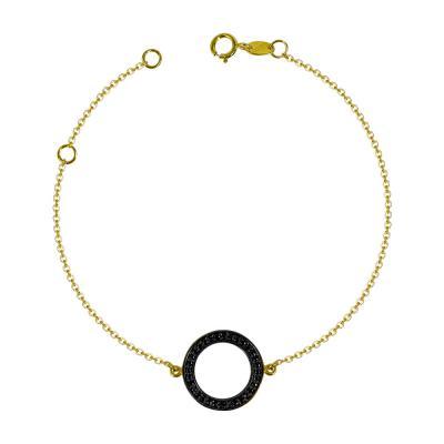 Βραχιόλι Κύκλος Με Πέτρες Από Επιχρυσωμένο Ασήμι VR614