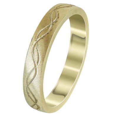 Κίτρινη Χρυσή Βέρα Γάμου WR293