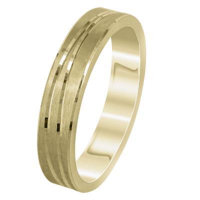 Κίτρινη Χρυσή Βέρα Γάμου WR299