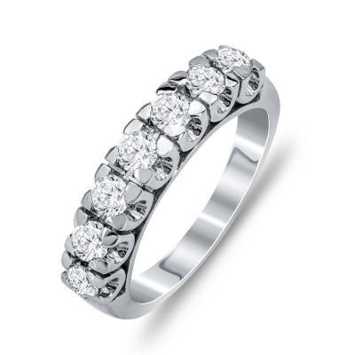 Δαχτυλίδι Μισόβερο Από Λευκόχρυσο Κ14 DX789