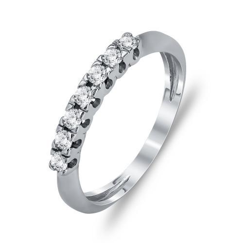 Δαχτυλίδι Μισόβερο Από Λευκόχρυσο Κ14 DX786
