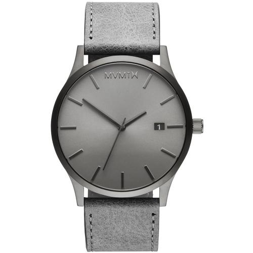 MVMT Classic Monochrome Grey Leather Strap D-MM01-GRGR