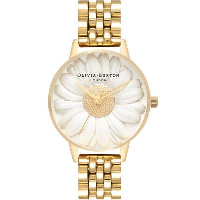 OLIVIA BURTON 3D Daisy Gold Stainless Steel Bracelet OB16FS100