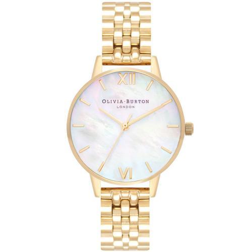 OLIVIA BURTON Mother of Pearl Gold Stainless Steel Bracelet OB16MOP01