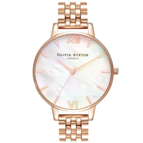 OLIVIA BURTON Mother Of Pearl Rose Gold Bracelet OB16MOP03