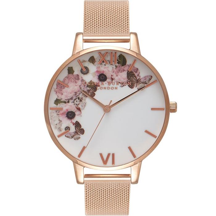 OLIVIA BURTON Signature Floral Rose Gold Bracelet OB16WG18