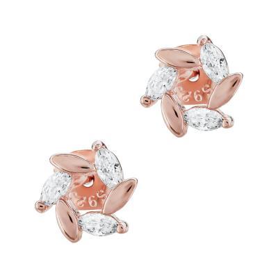 Σκουλαρίκια Με Πέτρες Από Ροζ Επιχρυσωμένο Ασήμι SK974