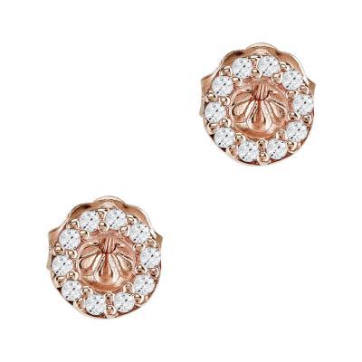 Σκουλαρίκια Κύκλοι Από Ροζ Χρυσό Κ14 SK918