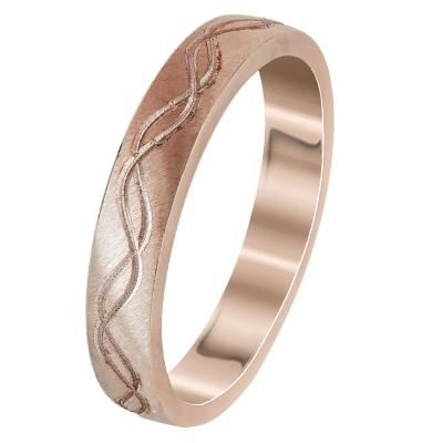 Ροζ Χρυσή Βέρα Γάμου WR293R
