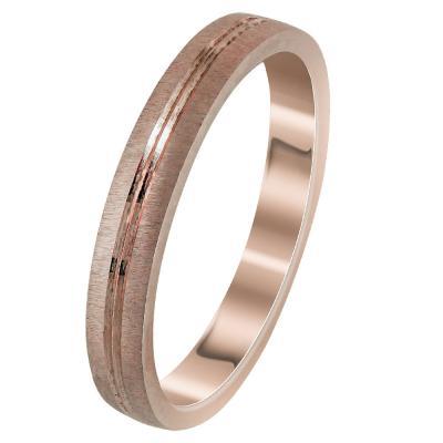 Ροζ Χρυσή Βέρα Γάμου WR295R