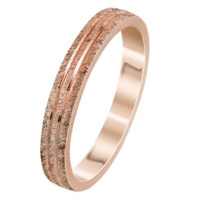 Ροζ Χρυσή Βέρα Γάμου WR296R