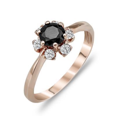 Δαχτυλίδι Μονόπετρο Από Ροζ Χρυσό Κ14 DX790
