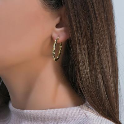Σκουλαρίκια Κρίκοι Από Κίτρινο Χρυσό Κ14 SK917