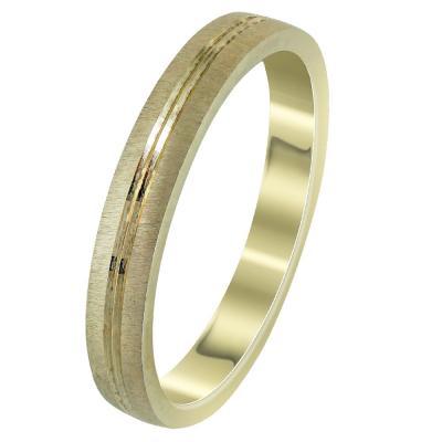 Κίτρινη Χρυσή Βέρα Γάμου WR295