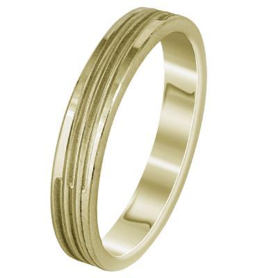 Κίτρινη Χρυσή Βέρα Γάμου WR297