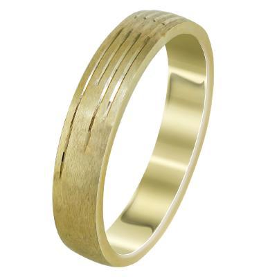 Κίτρινη Χρυσή Βέρα Γάμου WR2300