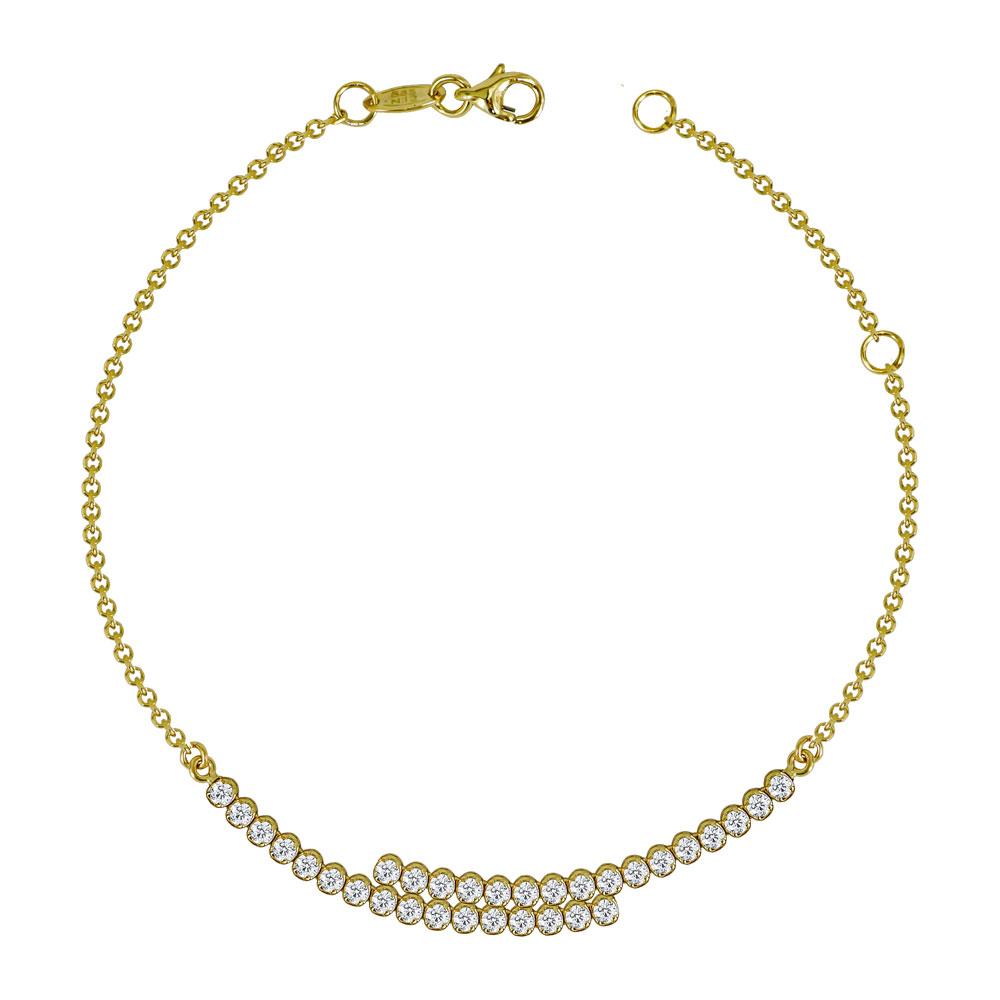 Βραχιόλι Με Πέτρες Από Κίτρινο Χρυσό Κ14 VR613