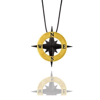 HONOR Compass Κολιέ Από Ορείχαλκο BP085