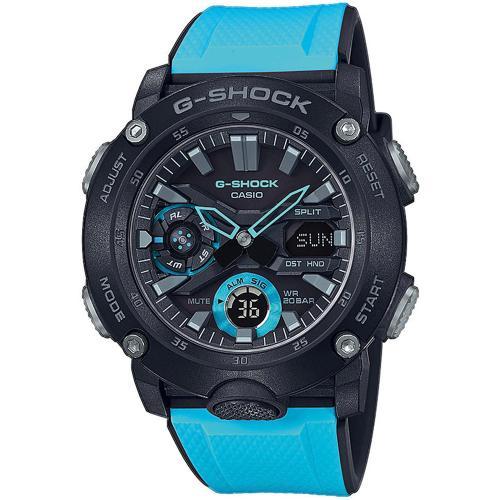 CASIO G-SHOCK Carbon Light Blue Rubber GA-2000-1A2ER