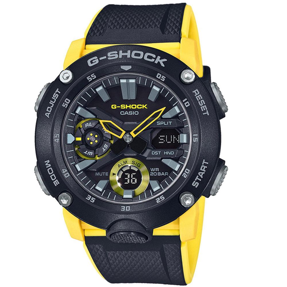 CASIO G-SHOCK Carbon Yellow Rubber Strap GA-2000-1A9ER