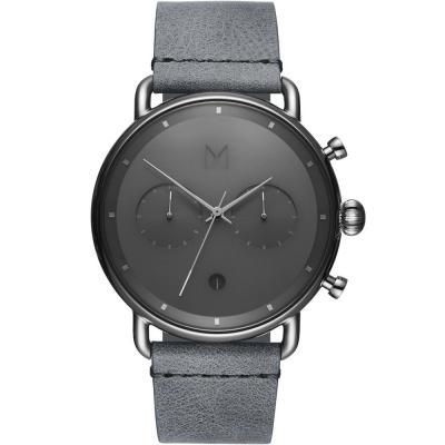 MVMT Silver Mist Grey Leather Strap D-BT01-SGR