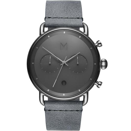 MVMT Silver Mist Grey Leather Strap D-BT01-SGR