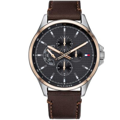 TOMMY HILFIGER Shawn Brown Leather Strap 1791615