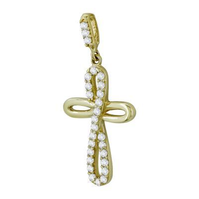 Σταυρουδάκι Μενταγιόν Από Κίτρινο Χρυσό Κ14 STM416