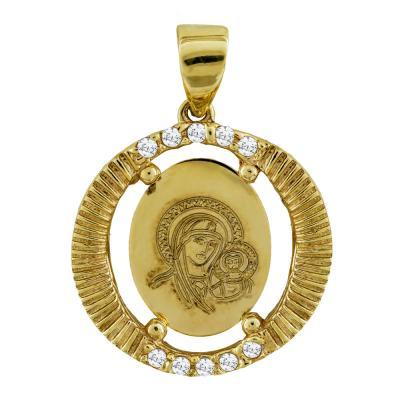 Κωνσταντινάτο Από Κίτρινο Χρυσό Κ14 KN253