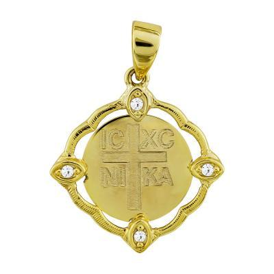 Κωνσταντινάτο Από Κίτρινο Χρυσό Κ14 KN258