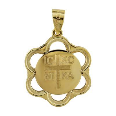 Κωνσταντινάτο Από Κίτρινο Χρυσό Κ14 KN240