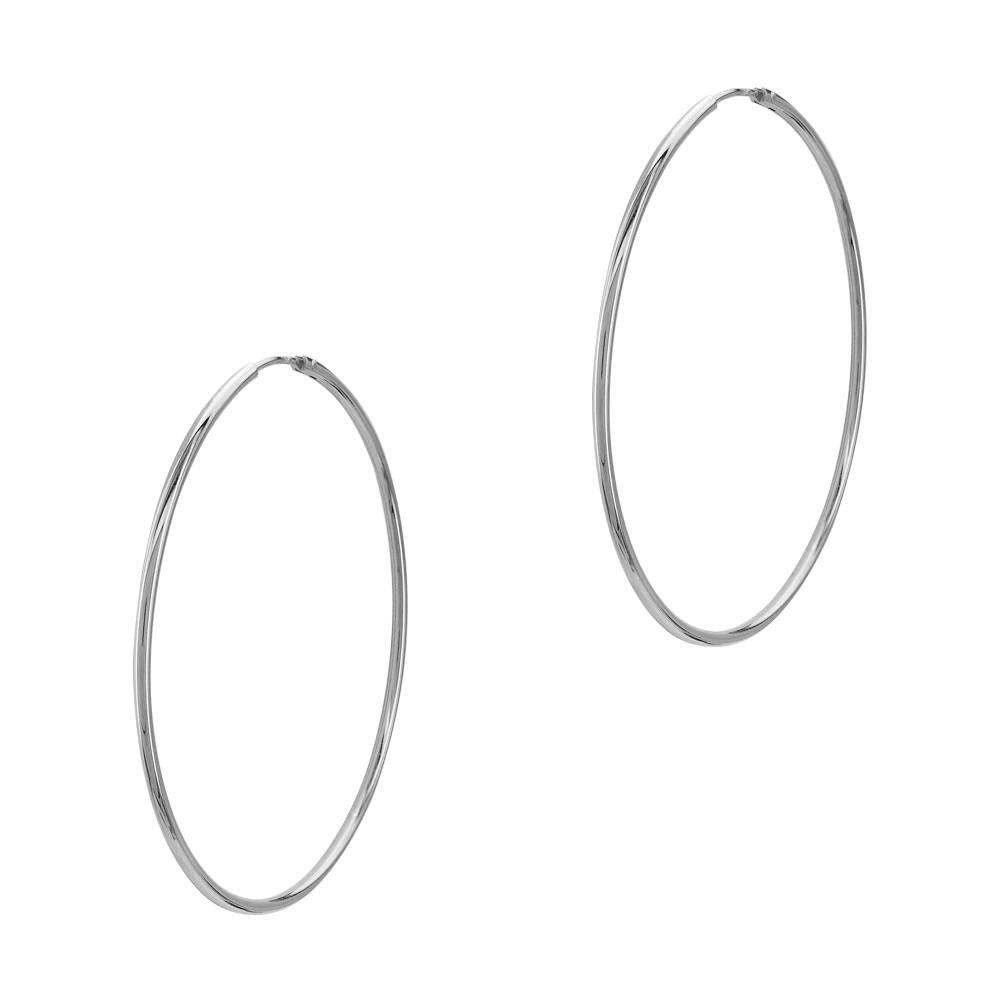 Σκουλαρίκια Κρίκοι Από Ασήμι SK925