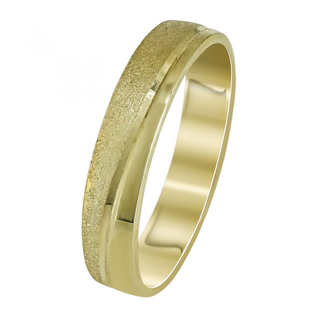 Κίτρινη Χρυσή Βέρα Γάμου WR104 k9