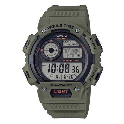 CASIO Collection Khaki Rubber Strap AE-1400WH-3AVEF