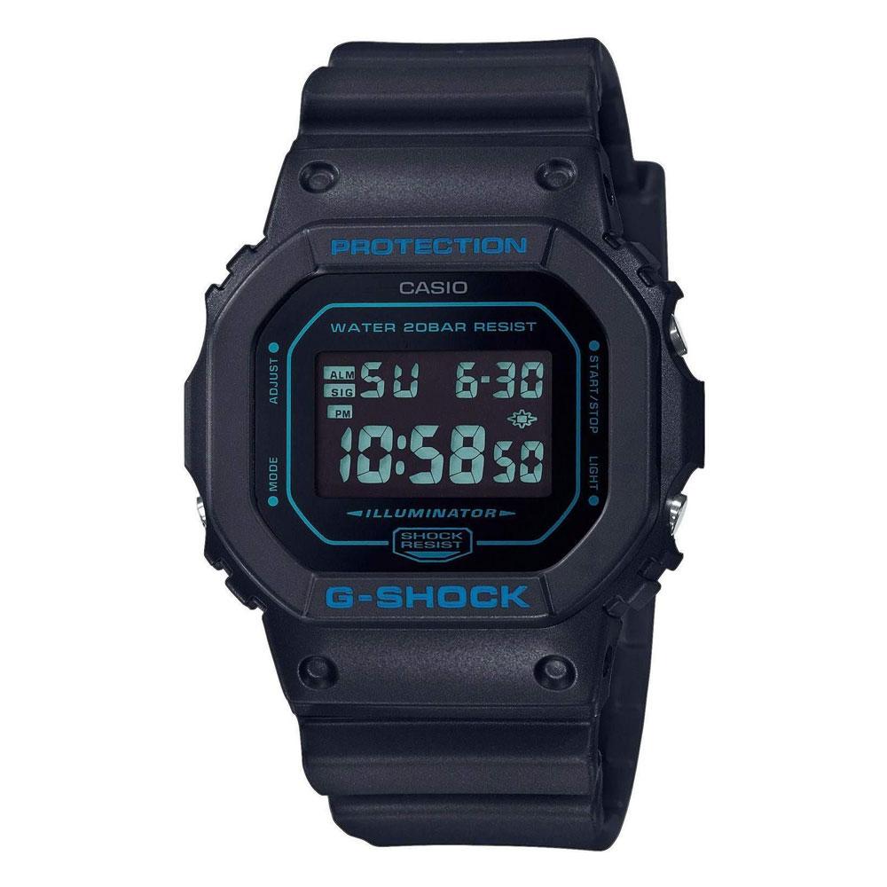 CASIO G-Shock Chronograph Black Rubber Strap DW-5600BBM-1ER