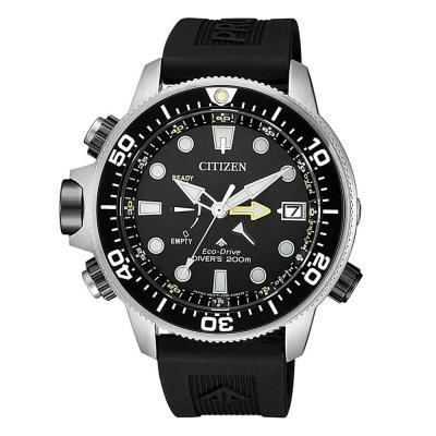 CITIZEN Eco-Drive Promaster Diver's Black Rubber Strap BN2036-14E