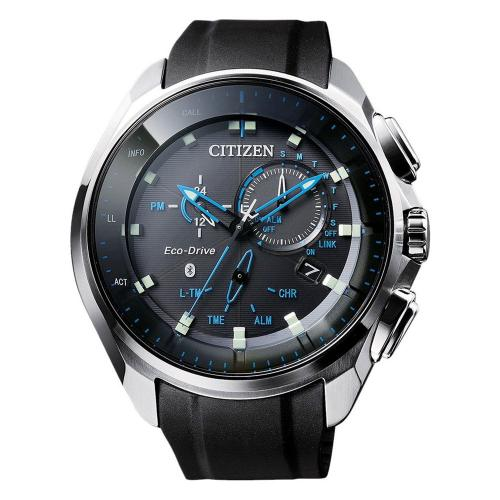 CITIZEN Eco Drive Bluetooth Black Leather Strap BZ1020-14E