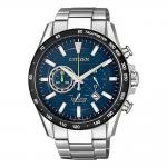 CITIZEN Eco-Drive Chronograph Silver Stainless Steel Bracelet CA4444-82L