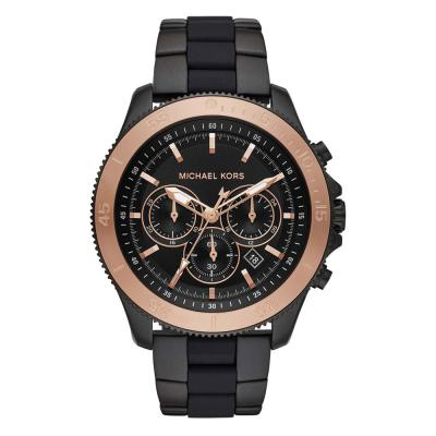 Michael KORS Theroux Chronograph Black Stainless Steel Bracelet MK8666