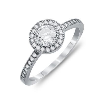 Μονόπετρο Δαχτυλίδι Από Ασήμι DX746