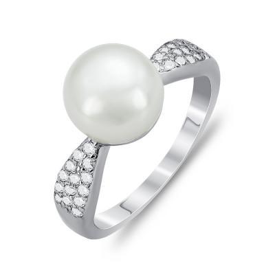 Μονόπετρο Δαχτυλίδι Με Μαργαριτάρι Aπό Ασήμι DX766