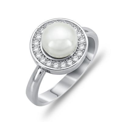 Μονόπετρο Δαχτυλίδι Με Μαργαριτάρι Aπό Ασήμι DX768