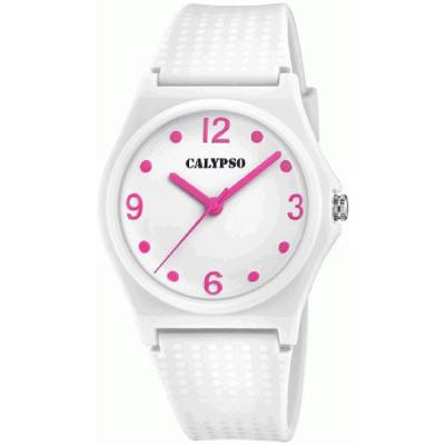 CALYPSO Kids White Rubber Strap K5743-1